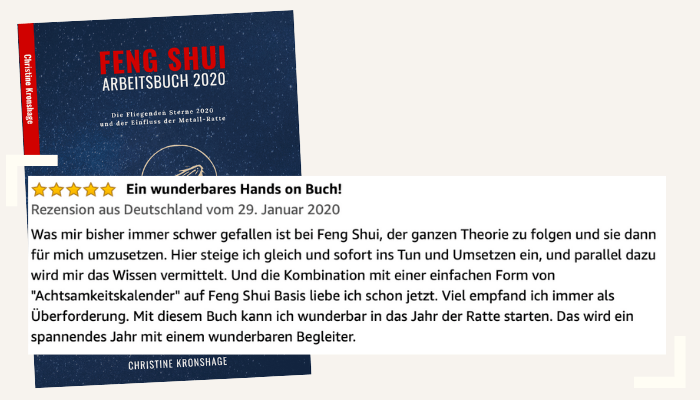 Rezension 3 Feng Shui Arbeitsbuch