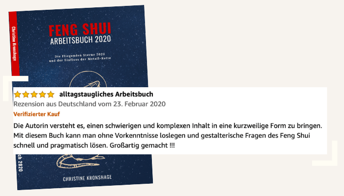Rezension 1 Feng Shui Arbeitsbuch
